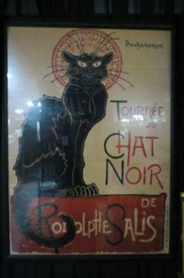 Vintage Large Chat Noir cat print.