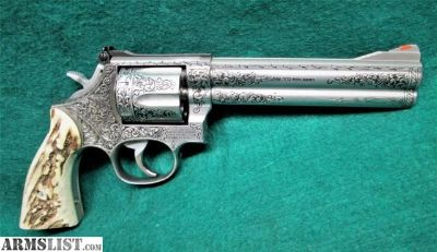 For Sale: Smith & Wesson - Engraved By Clint Finley Model 686 Beautifully Engraved & W/Stag Grips. .357 Mag.