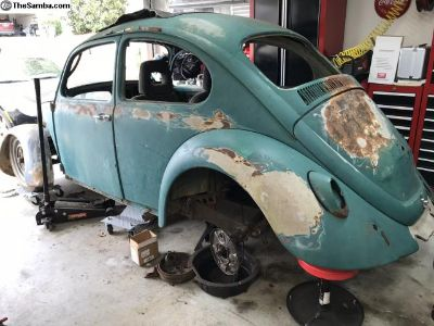 1967 VW Beetle Project Java Green
