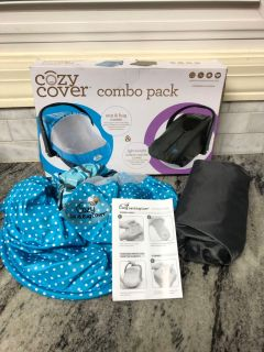 NEW in box Cozy Cover Combo Pack for covers for baby car seats ($30 Retail) $18