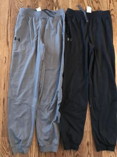 Boys Under Armour Large Athletic Pants Lot (2 Pairs) - Excellent Condition, Like New - 83rd & K7, XP