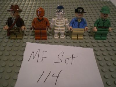 5 Lego Indiana Jones Minifigs Group 114