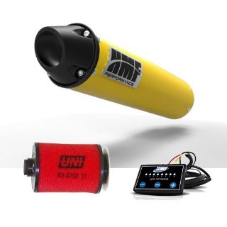 Purchase HMF Can Am Outlander 800 2012 - 2014 Yellow/Blk Slip On Exhaust + EFI + UNI motorcycle in Berea, Ohio, United States, for US $588.91
