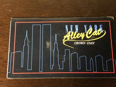 The New York Alley Cat 1990 ISLE OF MAN 1 One Crown Uncirculated Coin