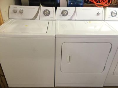 $460, Admiral Washer and Electric Dryer Set in White