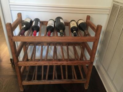 Antique French Wood Wine Rack