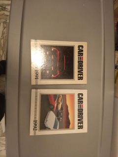 Coffee Table Editions, Vintage 1991, 1992 Car And Driver Yearbooks, each 191 Pages Hardcover, $10 for 1, $15 both