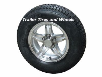 "Sell LSE 175/80D13 LRC Bias Trailer Tire on 13"" 5 Lug Aluminum Trailer Wheel acc motorcycle in Edon, Ohio, United States, for US $120.00"