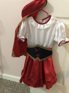 Toddler 2-4 little red riding hood costume