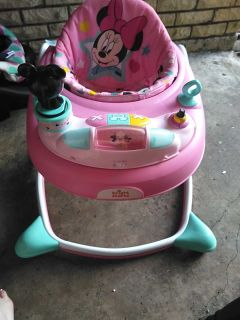Baby walker. Barely used she didn't like it.