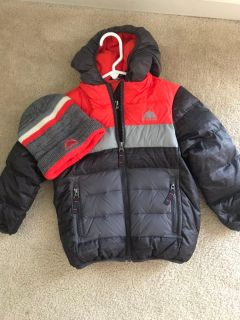 Boys 4T winter Coat with matching hat