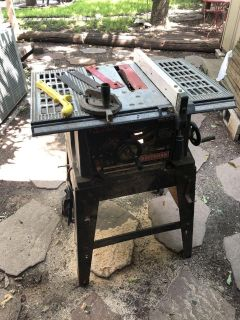 Craftsman 10-in. Table Saw with wheels