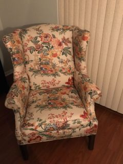 2 Ethan Allen wingback chairs.