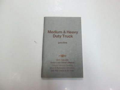 Purchase 1979 Chevrolet Medium & Heavy Duty Truck Gasoline Owners & Drivers Manual *** motorcycle in Sterling Heights, Michigan, United States, for US $16.99