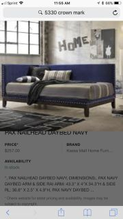 Twin Daybed (Navy) with Mattress