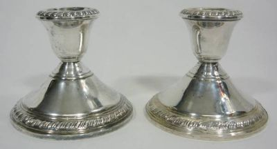Sterling Silver Candleholders
