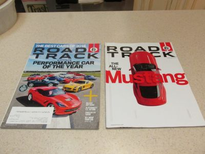 Car Magazines - Road & Track - 2 Recent Issues Including Special Mustang Issue