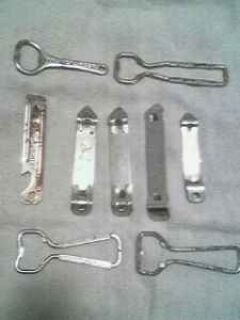 Antique Bottle openers - (9 pieces)