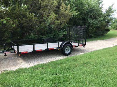 2018 LONGHORN 77x14 Tailgate Utility Trailers Chanute, KS