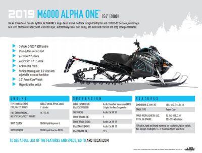 2019 Arctic Cat M6000 154 A1 ALPHA Snowmobile Mountain Port Washington, WI