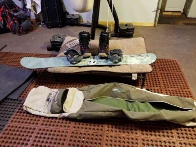 Salomon Snowboard with boots