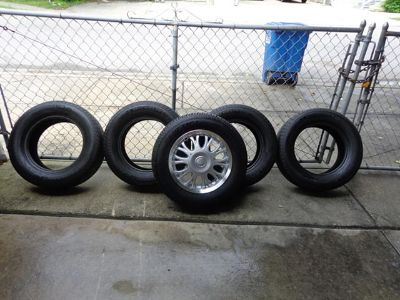 $400 4 Michelin 20565R15 Tires  Kenetica Radial 15 Spare with New Rim