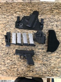 For Sale: Smith & Wesson M&P Shield 9mm conceal / open carry dream package!
