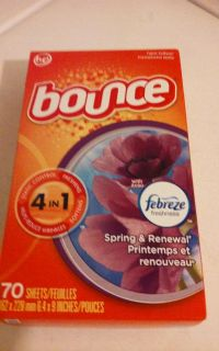 Bounce Spring & Renewal Dryer Sheets