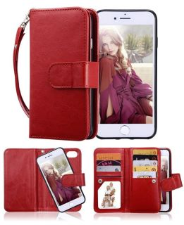 NEW IPHONE 8 LEATHER WALLET CASE