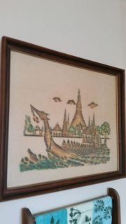 Vintage Asian rubbing on rice paper
