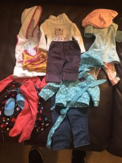 5 18 inch doll or American Girl Doll outfits
