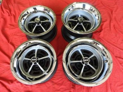 Purchase 1968-1970 SET OF 4 15x10 & 15X8 SS CHEVELLE 396 SS YA STYLE WHEELS NICE motorcycle in Valley Center, California, United States, for US $949.99