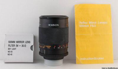 Rokinon 500mm F/8.0 Mirror Lens