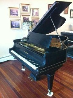 $5,995 Vintage Satin Ebony Mason & Hamlin Grand Piano Model 'A'