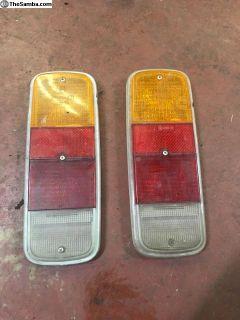 Used Hella 72-79 Bus tail light lenses