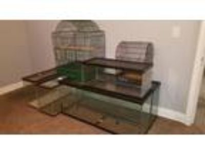 Tanks and cages for sale, two 55 Gal and three 30 Gal aquariums Bird cages also
