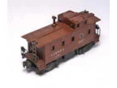 Vintage LIONEL Postwar CABOOSE # 6457 Brown ~ O Scale Train