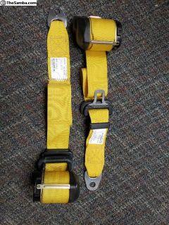 Porsche 993/964 front Yellow Seat Belts