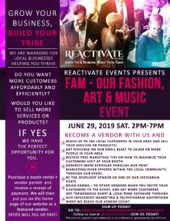 Wanted: Irvine Local Business Vendors for F.A.M. event