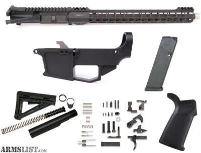 """For Sale: 80% AR15 10MM NEW FRONTIER 16"""" FREE FLOAT BUILD KIT - BLACK"""