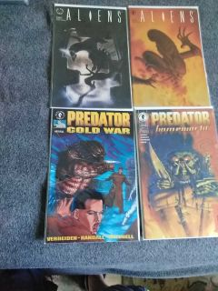 Predator & Aliens comics $2 each