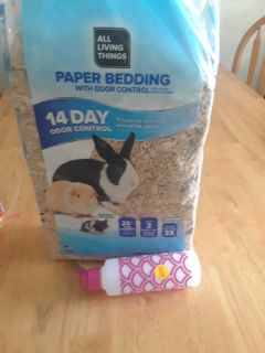 Free new Rabbit bedding and water bottle