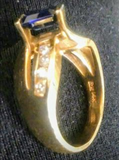 Gold, Diamonds, Sapphire ring ...valued at $2,624