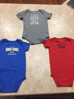 Lot of 3 Size 24 months onesies. Ppu near White House middle school. Smoke and cat free home.