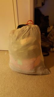 Large bag full of clothes