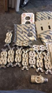 Plug and outlet cover and plugs