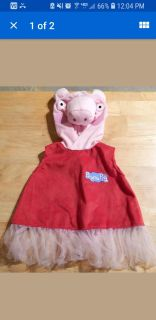 Peppa pig deluxe costume size 2- 3
