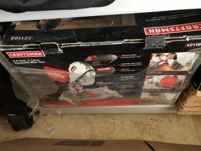 Miter saw & set of wrenches