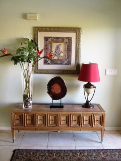 Side Table with Decorations