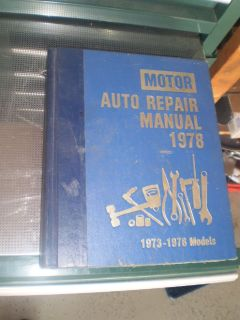 SHOP MANUAL SERVICE REPAIR BOOK MOTOR AUTO 1973-1978 MODELS RARE OLD